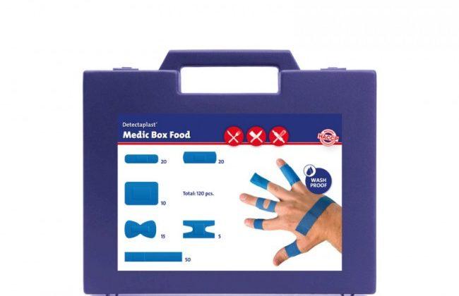Plåsterlåda HACCP Waterproof, blå detekterbara